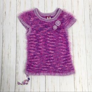 Deux Pat Deux Purple Eyelash Knit Sweater